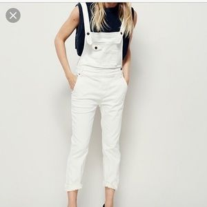 White denim FP overalls